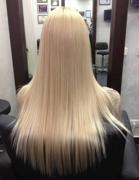 Окрашивание блонд на длинные волосы